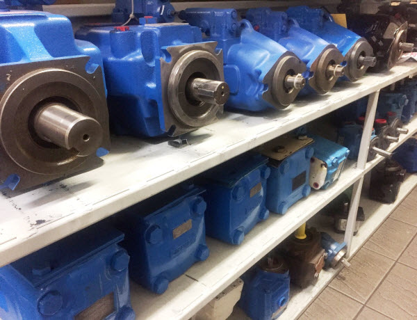 Pump spares in warehouse